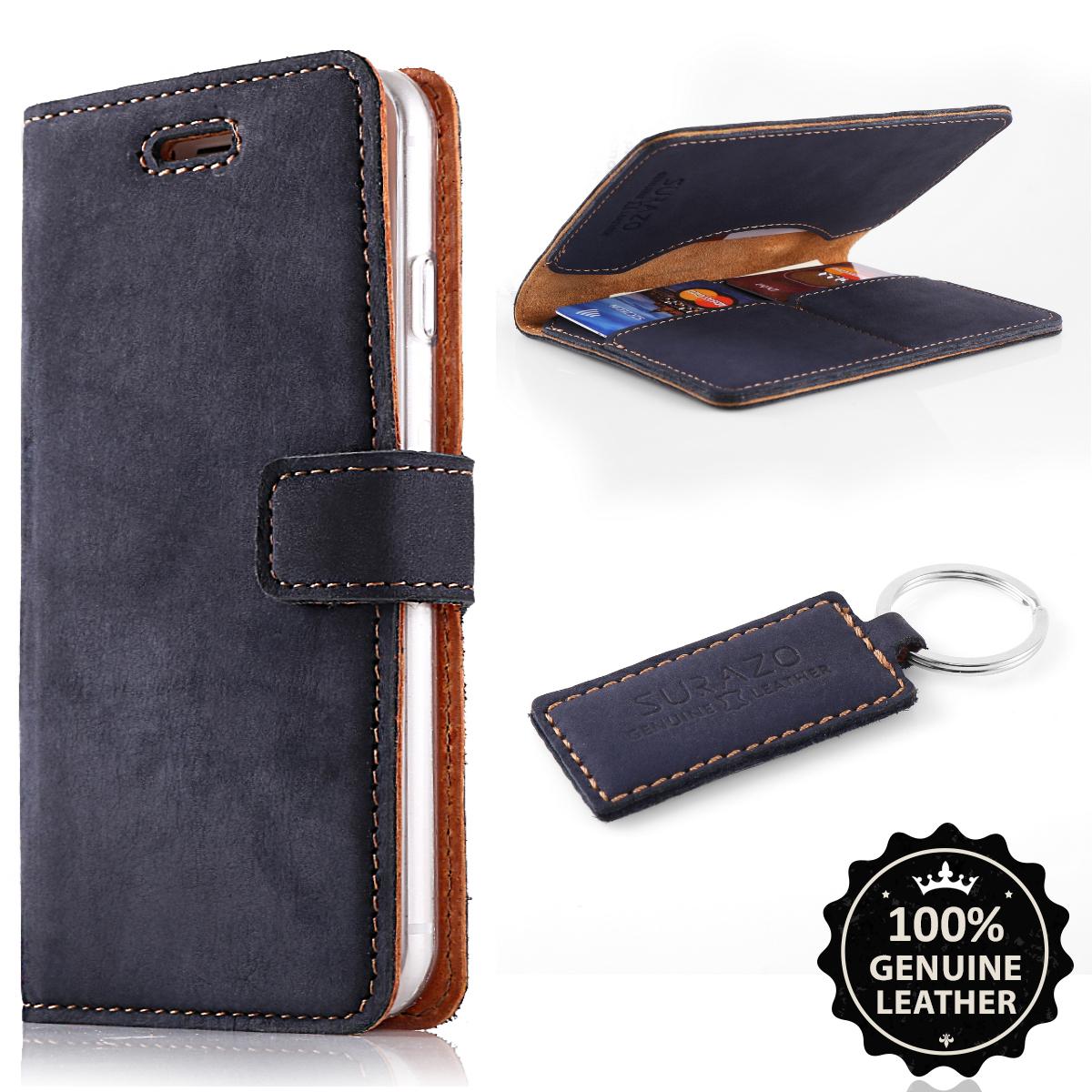 Farbe Blau Handy-zubehör Premium Echtes Ledertasche Schutzhülle Tpu Wallet Flip Case Nubuk Taschen & Schutzhüllen